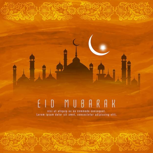 Eid mubarak islamski religijny projekt tła Darmowych Wektorów