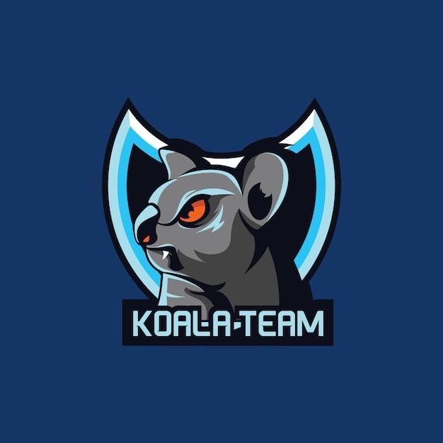 Ekipa Do Gier E-sportowych Maskotka Koala Premium Wektorów