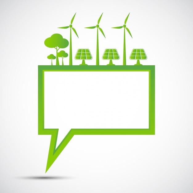 Ekologia I Koncepcja Ochrony środowiska, Symbol Ziemi Z Zielonymi Liśćmi Wokół Miast Pomóż światu Z Ekologicznymi Pomysłami Premium Wektorów