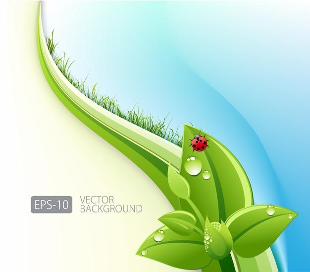 Ekologiczne Streszczenie Tło Premium Wektorów