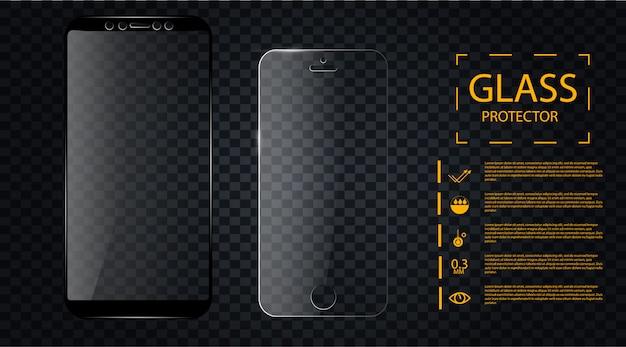 Ekran chroni szkło Premium Wektorów