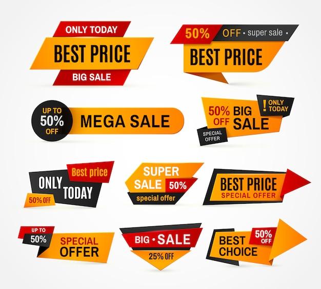 Ekskluzywna wyprzedaż promocyjna tag promocyjny super mega duża kampania sprzedażowa Premium Wektorów