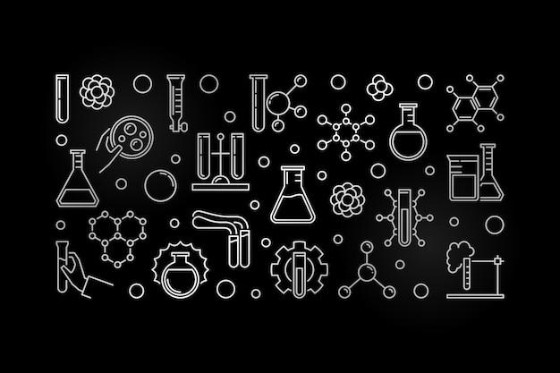 Eksperymenty Laboratoryjne Zarysowują Srebrny Sztandar Premium Wektorów