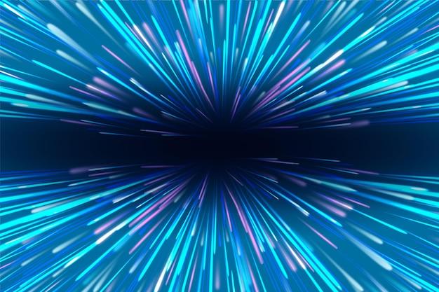 Eksplozja świateł Prędkości W Tle Darmowych Wektorów