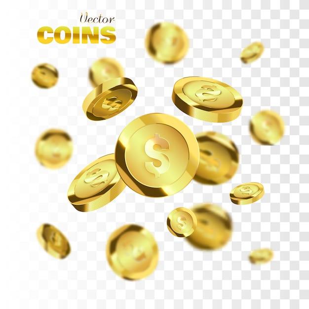 Eksplozja Złotych Monet Premium Wektorów