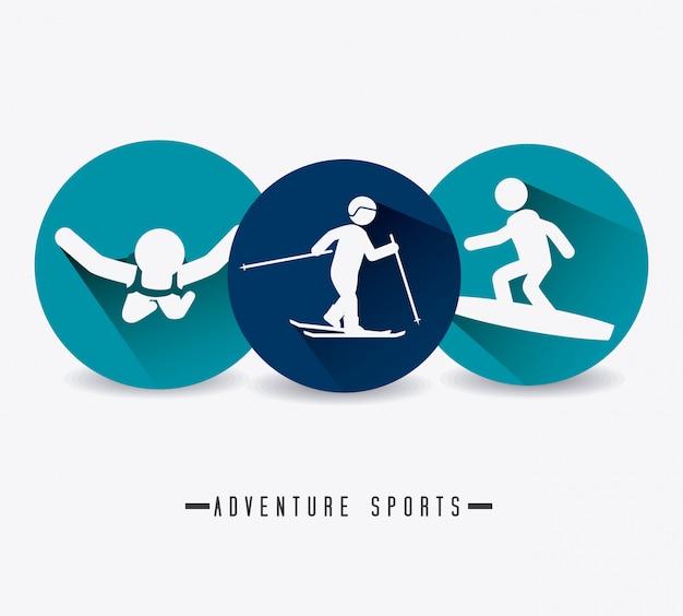Ekstremalny sport. Premium Wektorów