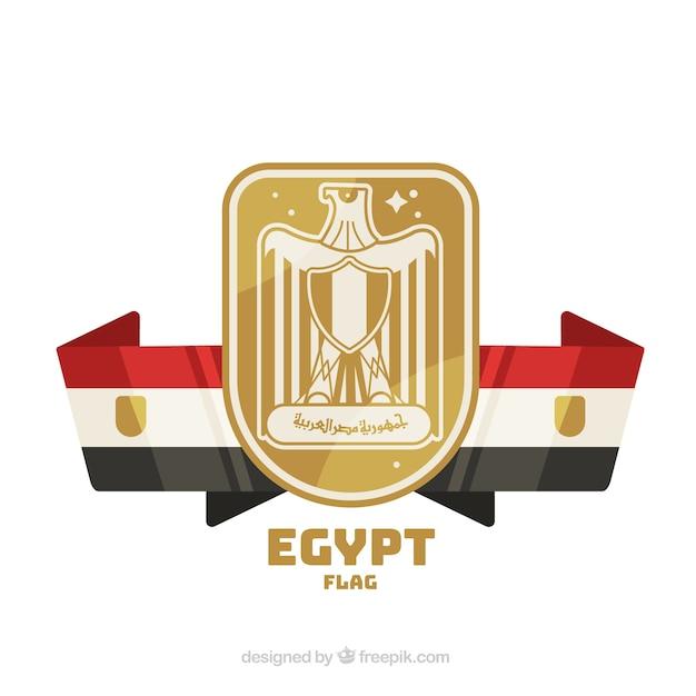 Elegancka Flaga Egipska O Płaskiej Konstrukcji Darmowych Wektorów
