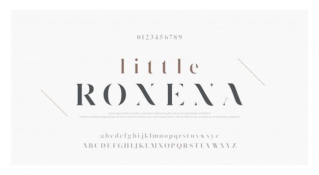Elegancka klasyczna czcionka litery alfabetu Premium Wektorów