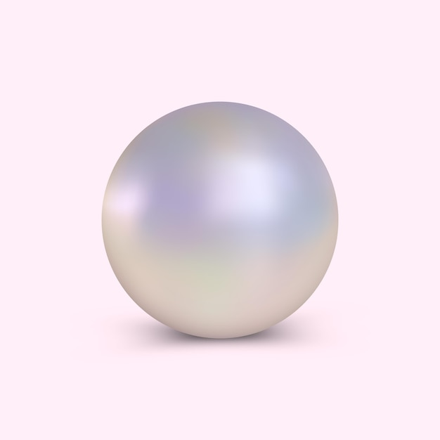 Elegancka realistyczna perła Premium Wektorów
