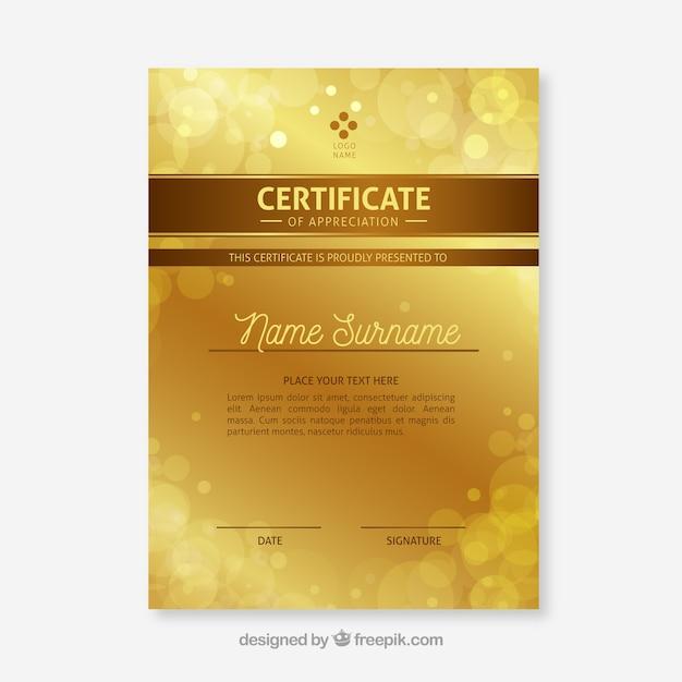 Elegancki Certyfikat Szablonu Darmowych Wektorów