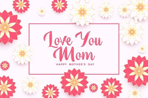 Elegancki Dzień Matki Piękny Kwiat Pozdrowienie Tła Darmowych Wektorów