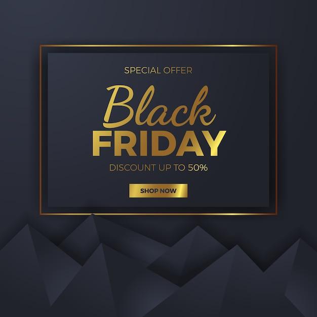Elegancki Geometryczny Kształt Trójkąta Na Czarny Piątek Kwadratowy Szablon Oferty Sprzedaży Premium Wektorów