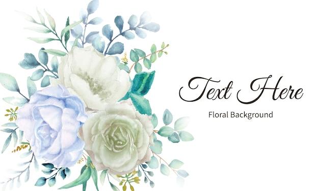 Elegancki Kwiat Tło Z Akwarela Kwiatowy Premium Wektorów