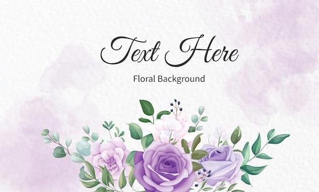 Elegancki Kwiatowy Tło Ramki Z Pięknym Kwiatowym Premium Wektorów