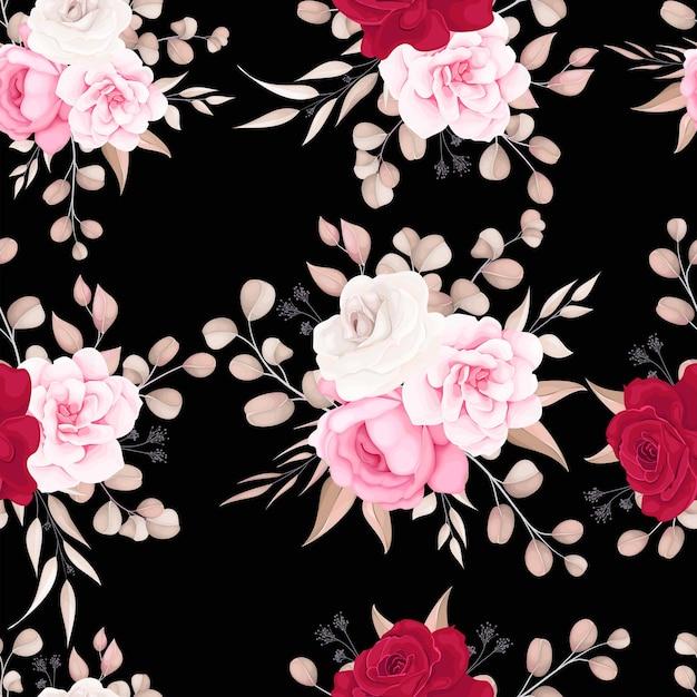 Elegancki Kwiatowy Wzór Z Delikatnymi Kwiatami Darmowych Wektorów