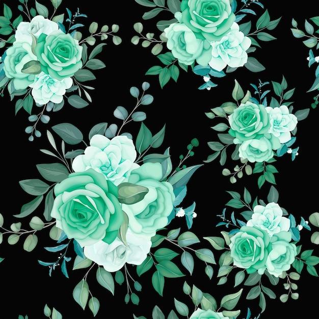 Elegancki Kwiatowy Wzór Darmowych Wektorów