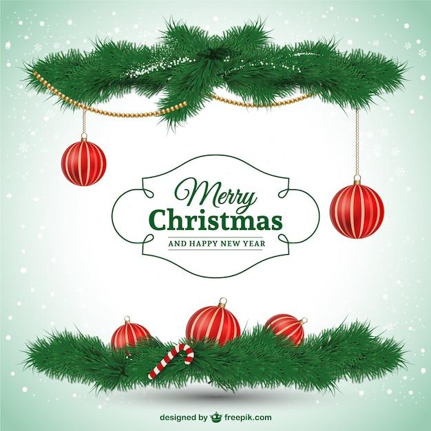 Elegancki Merry Christmas Karty Darmowych Wektorów