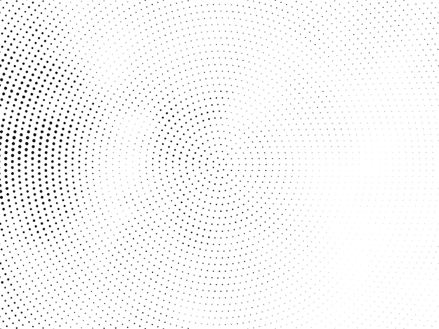 Elegancki Okrągły Projekt Półtonów Nowoczesne Tło Darmowych Wektorów