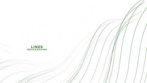 Elegancki Streszczenie Zielony Sposób Płynące Linie Tła Darmowych Wektorów