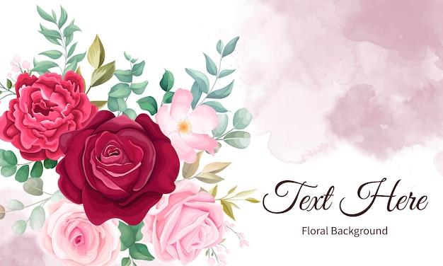 Elegancki Strony Rysunku Tle Kwiatów Darmowych Wektorów