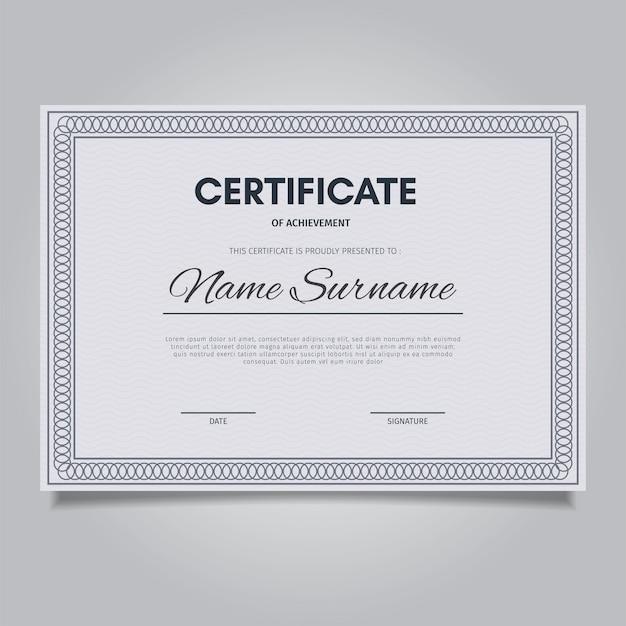 Elegancki szablon certyfikatu z ramkami ornament vintage Premium Wektorów