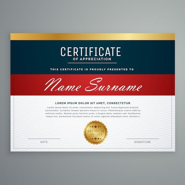 elegancki szablon wektor certyfikatu certyfikatu Darmowych Wektorów