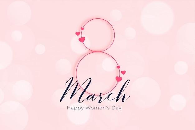 Elegancki, Szczęśliwy Dzień Kobiet 8 Marca Banner Darmowych Wektorów