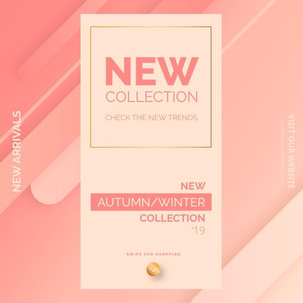 Elegancki sztandar promocyjny nowej kolekcji dla sklepu mody Darmowych Wektorów