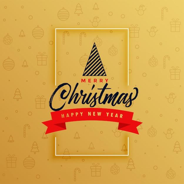 Elegancki wesołych świąt bożego narodzenia projekt karty z pozdrowieniami Darmowych Wektorów