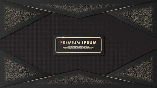Elegancki Wzór Złota Szablon Tło Premium Wektorów