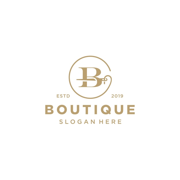 Eleganckie logo litery b. Premium Wektorów