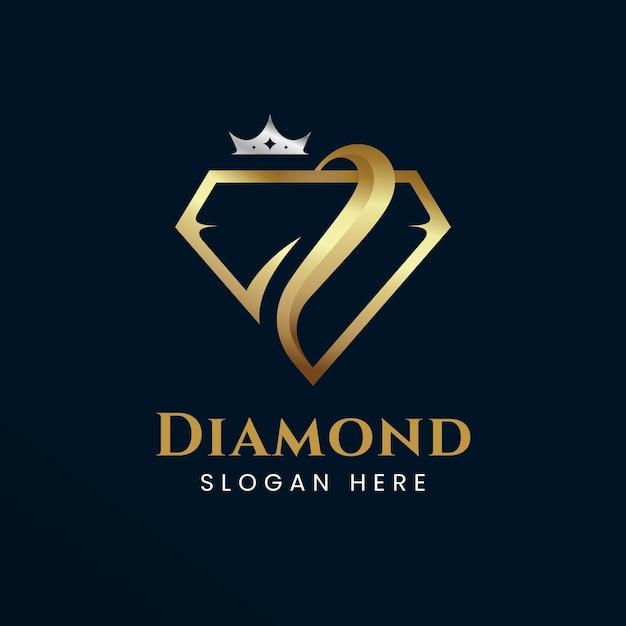 Eleganckie Logo W Romby Darmowych Wektorów