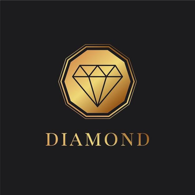 Eleganckie Logo W Romby Premium Wektorów