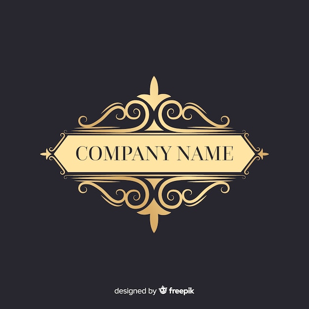Eleganckie ozdobne logo z nazwą firmy Darmowych Wektorów