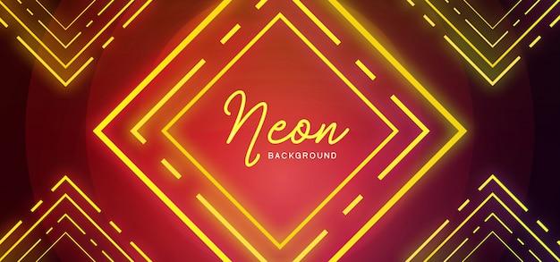 Eleganckie tło neon Premium Wektorów
