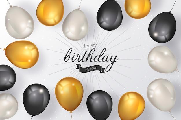 Eleganckie tło urodziny z luksusowych balonów Darmowych Wektorów
