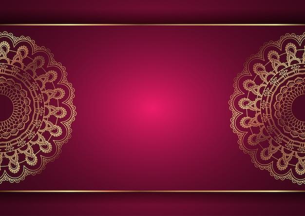 Eleganckie Tło Z Dekoracyjnym Wzorem Mandali Darmowych Wektorów