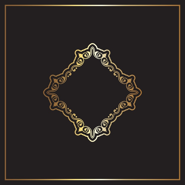 Eleganckie złote i czarne tło Darmowych Wektorów