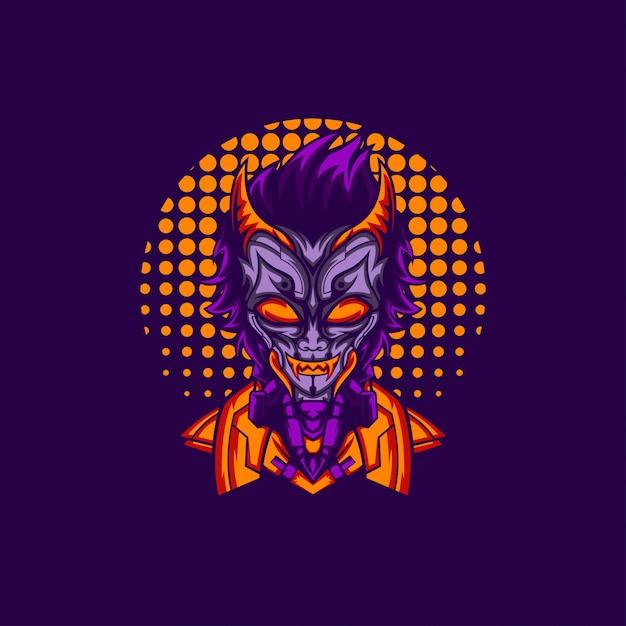 Elegant Night Devil Premium Wektorów