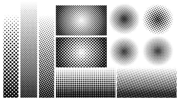 Element Halftone Dots W Stylu Vintage Do Dekoracji. Premium Wektorów