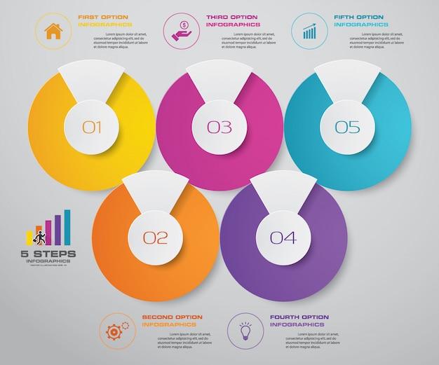 Element infografiki osi czasu Premium Wektorów