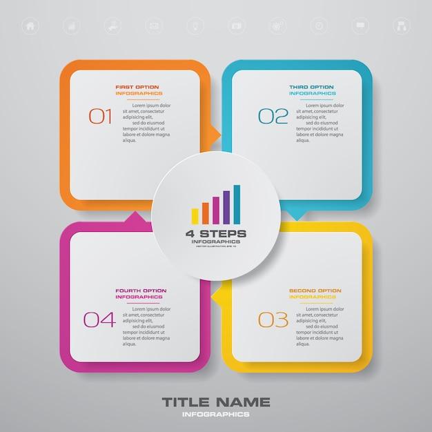 Element infografiki wykresu. Premium Wektorów