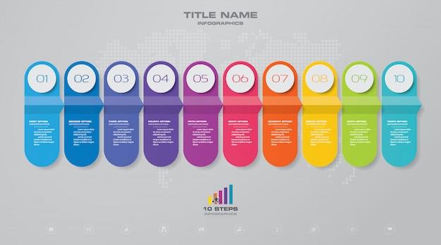 Element plansza wykres linii czasu. Premium Wektorów
