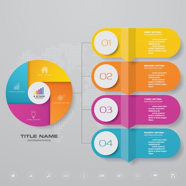 Element projektu plansza infographic Premium Wektorów