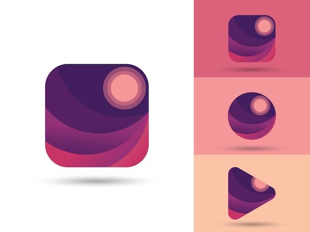 Element Ui / Ux Logo Aplikacji Gallery Premium Wektorów