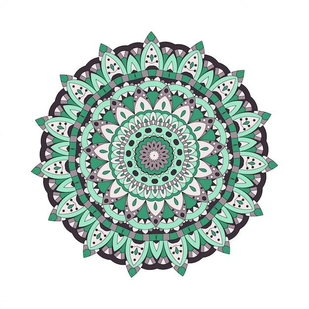 Elementy Abstrakcyjne. Okrągłe Mandale W Wektorze. Szablon Graficzny Do Projektowania. Dekoracyjny Ornament Retro Premium Wektorów