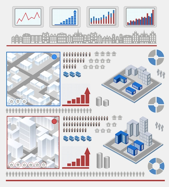 Elementy Do Infographic Premium Wektorów