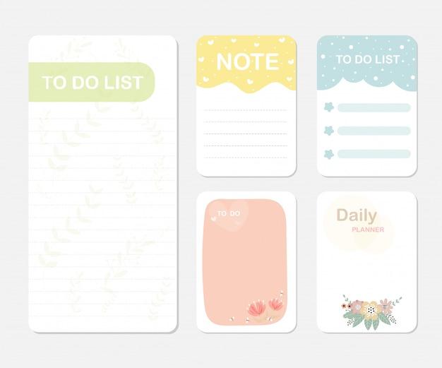 Elementy do notebooka Premium Wektorów