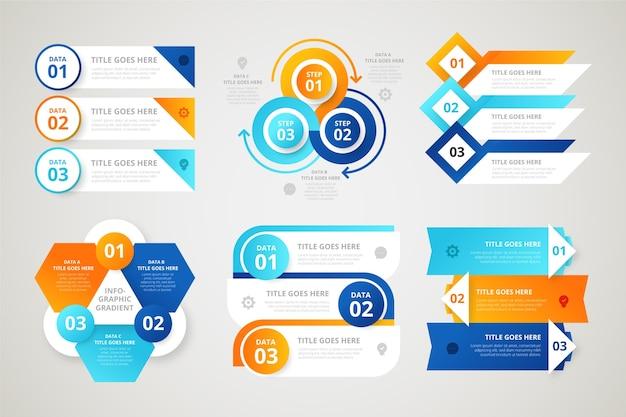 Elementy Gradientu Infographic Darmowych Wektorów