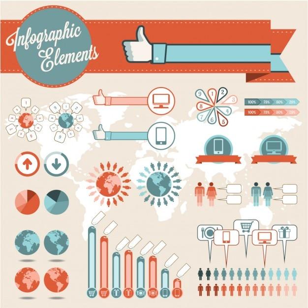 Elementy Infografiki Darmowych Wektorów